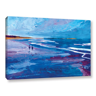 Brushstone Seascape Near Big Sur Gallery Wrapped Canvas Wall Art