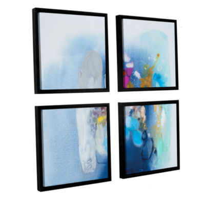 Brushstone Secret Heart 4-pc. Square Floater Framed Canvas