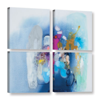 Brushstone Secret Heart 4-pc. Square Gallery Wrapped Canvas