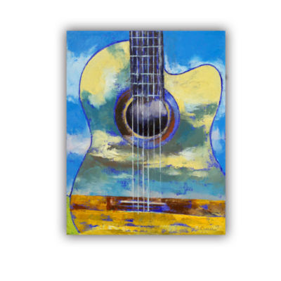 Brushstone Guitar and Clouds Removable Wall Decal