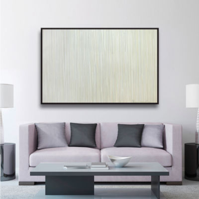 Brushstone Hydrogen Gallery Wrapped Floater-FramedCanvas Wall Art