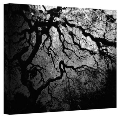 Brushstone Japanese Ying and Yang Tree Gallery Wrapped Canvas Wall Art