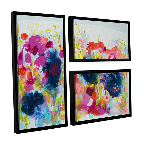 Brushstone July Heat 3-pc. Flag Floater Framed Canvas Wall Art