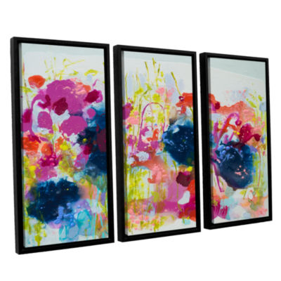 Brushstone July Heat 3-pc. Floater Framed Canvas Wall Art