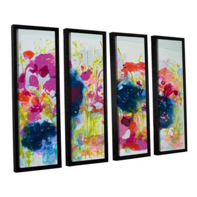 Brushstone July Heat 4-pc. Floater Framed Canvas Wall Art