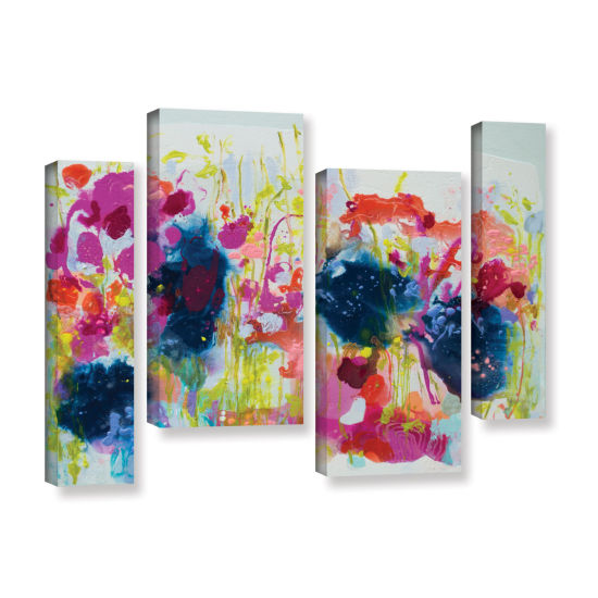 Brushstone July Heat 4-pc. Gallery Wrapped Staggered Canvas Wall Art