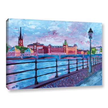 Brushstone Stockholm City View Gallery Wrapped Canvas Wall Art