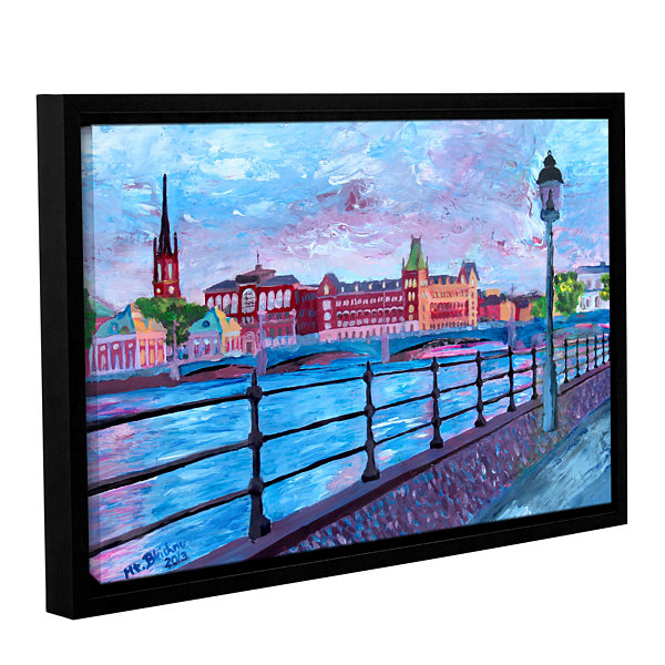 Brushstone Stockholm City View Gallery Wrapped Floater-Framed Canvas Wall Art