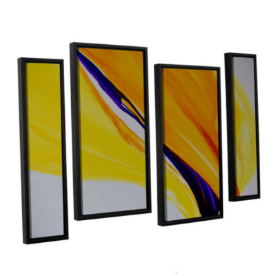 Brushstone Sublime 4-pc. Floater Framed StaggeredCanvas Wall Art