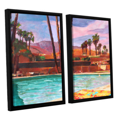 Brushstone The Palm Springs Pool 2-pc. Floater Framed Canvas Wall Art