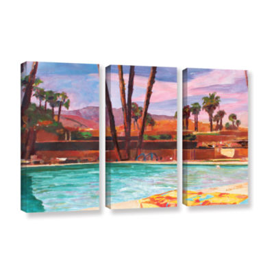Brushstone The Palm Springs Pool 3-pc. Gallery Wrapped Canvas Wall Art