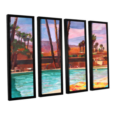 Brushstone The Palm Springs Pool 4-pc. Floater Framed Canvas Wall Art