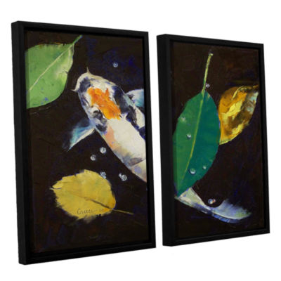 Brushstone Kumonryu Koi 2-pc. Floater Framed Canvas Wall Art