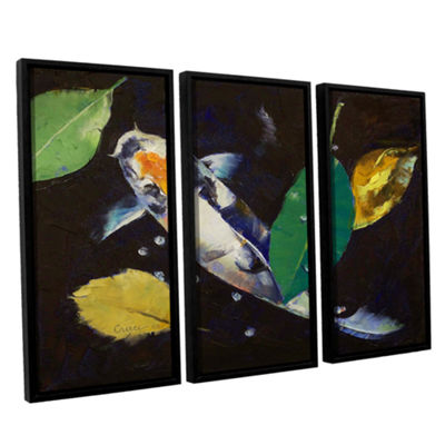 Brushstone Kumonryu Koi 3-pc. Floater Framed Canvas Wall Art