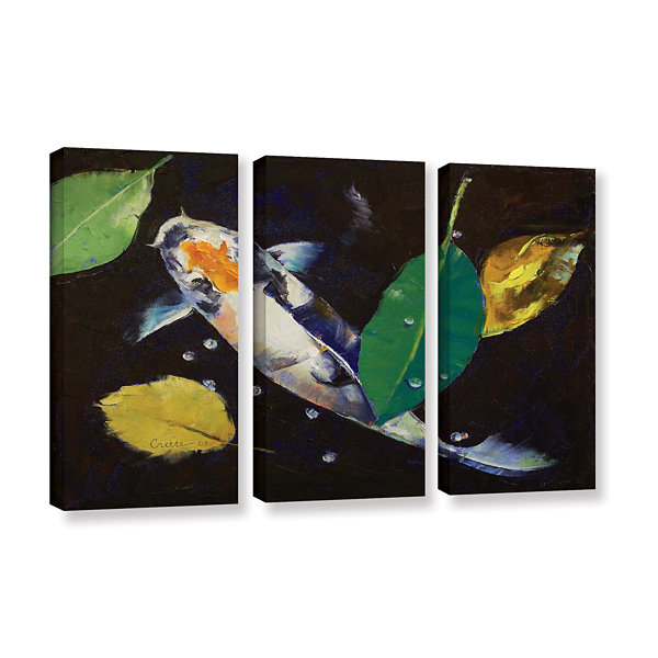 Brushstone Kumonryu Koi 3-pc. Gallery Wrapped Canvas Wall Art