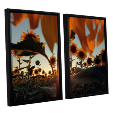 Brushstone Sunflower Field 2-pc. Floater Framed Canvas Wall Art