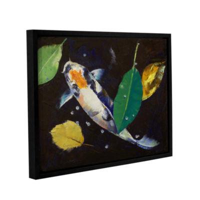 Brushstone Kumonryu Koi Gallery Wrapped Floater-Framed Canvas Wall Art