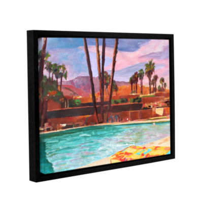 Brushstone The Palm Springs Pool Gallery Wrapped Floater-Framed Canvas Wall Art