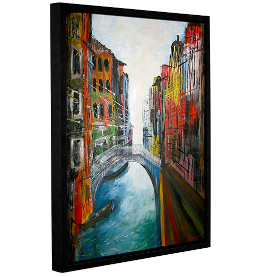 Brushstone Venice Grand Canal Gallery Wrapped Floater-Framed Canvas Wall Art