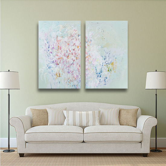 Brushstone Linger 2-pc. Gallery Wrapped Canvas Wall Art