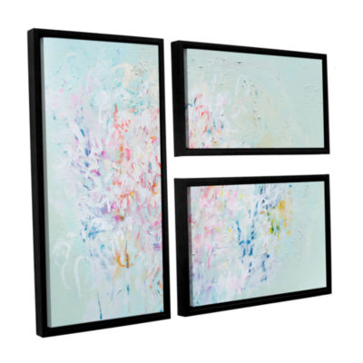 Brushstone Linger 3-pc. Flag Floater Framed CanvasWall Art