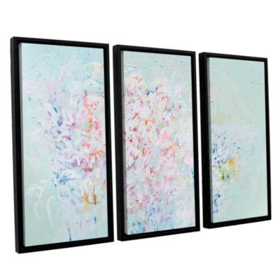 Brushstone Linger 3-pc. Floater Framed Canvas WallArt
