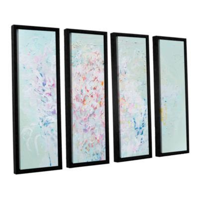Brushstone Linger 4-pc. Floater Framed Canvas WallArt