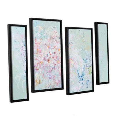 Brushstone Linger 4-pc. Floater Framed Staggered Canvas Wall Art
