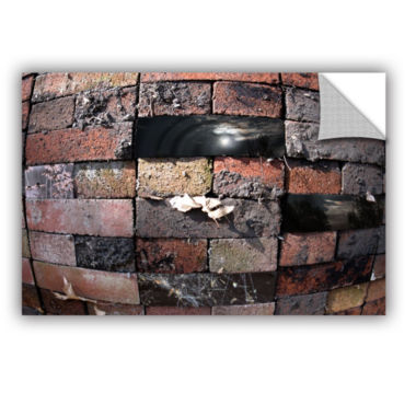 Brushstone Swollen Bricks Removable Wall Decal