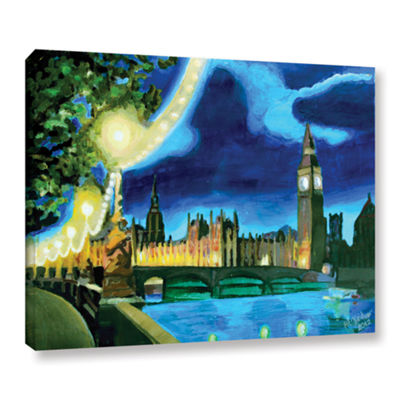 Brushstone London Big Ben and Parliament with Thames Gallery Wrapped Canvas Wall Art