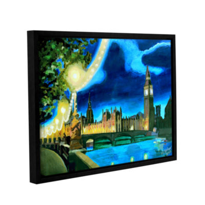Brushstone London Big Ben and Parliament with Thames Gallery Wrapped Floater-Framed Canvas Wall Art