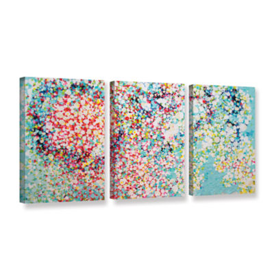 Brushstone Trimmed 3-pc. Gallery Wrapped Canvas Wall Art
