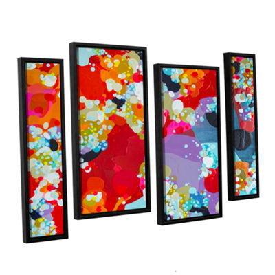 Brushstone Without Boundaries 4-pc. Floater FramedStaggered Canvas Wall Art