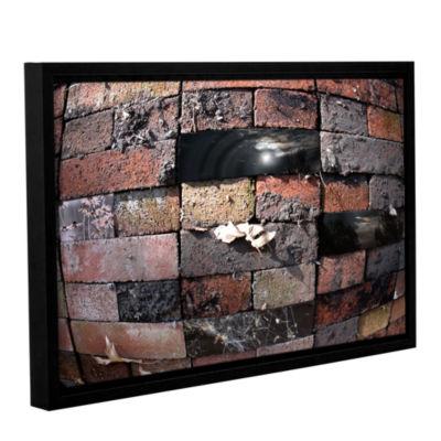 Brushstone Swollen Bricks Gallery Wrapped Floater-Framed Canvas Wall Art