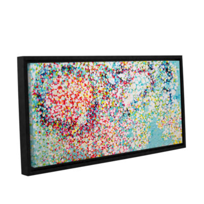 Brushstone Trimmed Gallery Wrapped Floater-FramedCanvas Wall Art