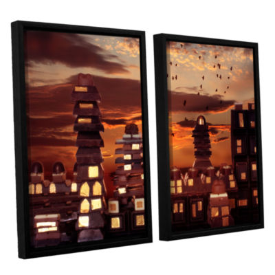 Brushstone Sweet Cityscape 2-pc. Floater Framed Canvas Wall Art