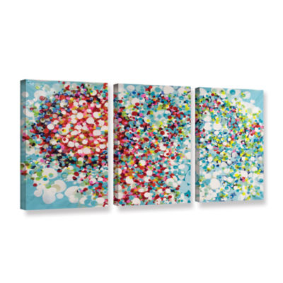 Brushstone Surprise Party 3-pc. Gallery Wrapped Canvas Wall Art