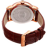 Akribos XXIV Mens Brown Leather Bracelet Watch-A-1003rg