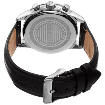 Akribos XXIV Mens Black Strap Watch-A-1004ssbk