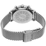 Akribos XXIV Mens Digital Silver Tone Stainless Steel Strap Watch-A-1027ss