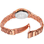 August Steiner Womens Rose Goldtone Strap Watch-As-8154rg
