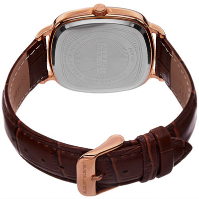 August Steiner Mens Brown Strap Watch-As-8155rgbr