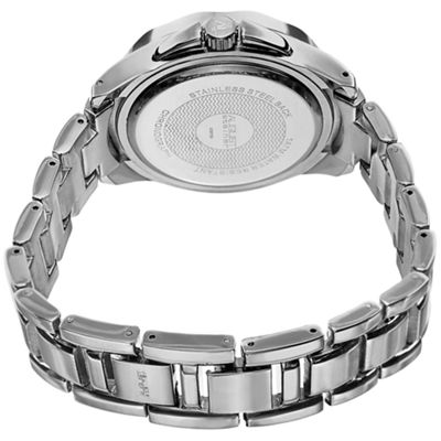 August Steiner Womens Silver Tone Strap Watch-As-8159ss