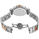 Burgi Womens Two Tone Stainless Steel Strap Watch-B-082ttr