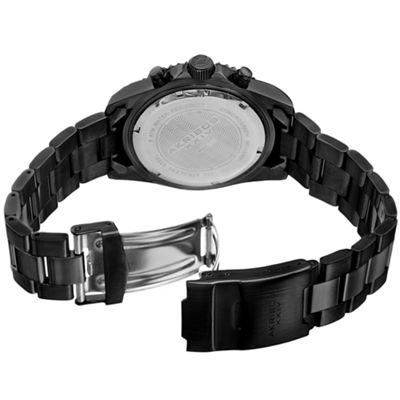 Akribos XXIV Mens Black Strap Watch-A-950bk