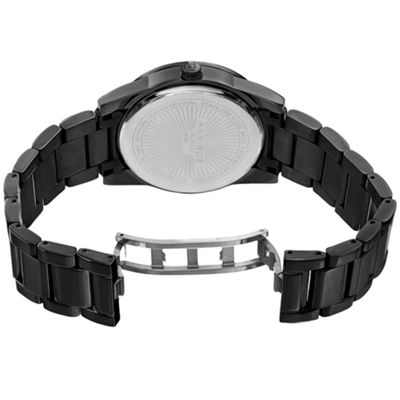 Akribos XXIV Mens Black Strap Watch-A-962bk