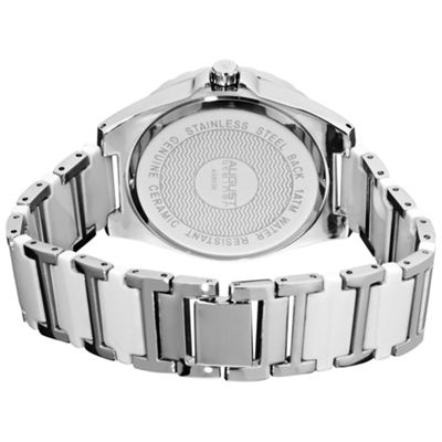 August Steiner Womens Silver Tone Strap Watch-As-8036wt