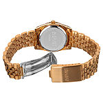 August Steiner Womens Rose Goldtone Stainless Steel Strap Watch-As-8046rg