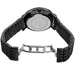 August Steiner Mens Black Stainless Steel Strap Watch-As-8215bk