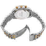 August Steiner Womens Two Tone Stainless Steel Strap Watch-As-8103ttgb